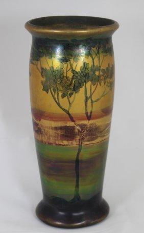 "Weller Pottery ""lasa"" Scenic Vase"