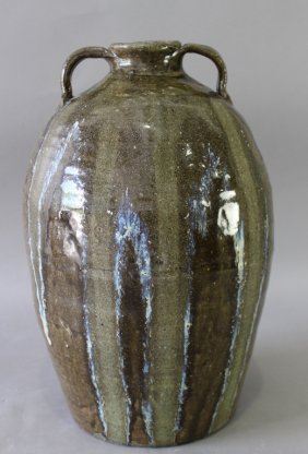 """18"""" Alkaline Glaze Stoneware Jug"""