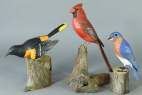 Three Robert & Virginia Warfield Birds