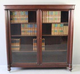 Mahogany Double Door Bookcase