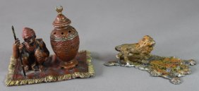 Two Austrian Cold Painted Figurines