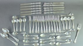 "Wallace Sterling Silver Flatware ""irving"""