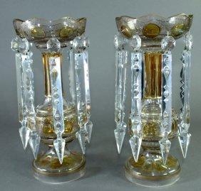 Pair Of Italian Mantle Lustres