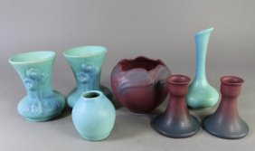 Seven Pieces Van Briggle Pottery
