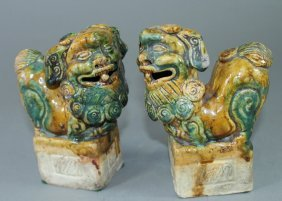Pair Of Late 19th Century Chinese Foo Dogs