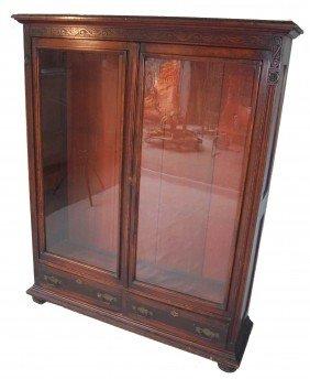 C1890 2 Door American Mahogany Bookcase