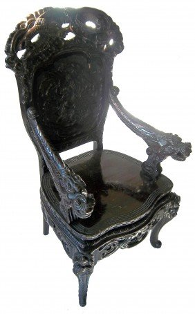 Mid 19th C. Chinese Teakwood Armchair