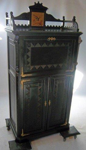 C1870 Am. Aesthetic Music Cabinet
