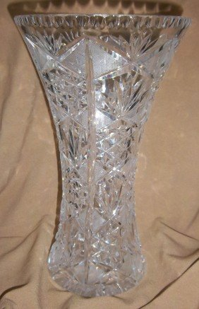 Ea. 20th C. Cut Glass Vase