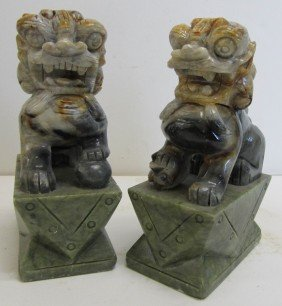 Pair Of Jade Lions