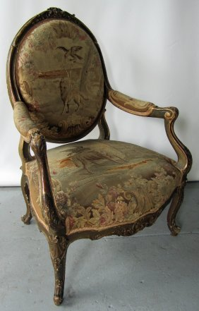 Ea. 19th C. French Aubusson Armchair