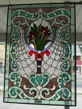 20th C. Stained Glass Window