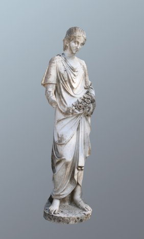 Nineteenth-century Marble Figure Of A Young Woman H