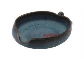 Junyao Flambe Glaze Leaf Shaped Dish