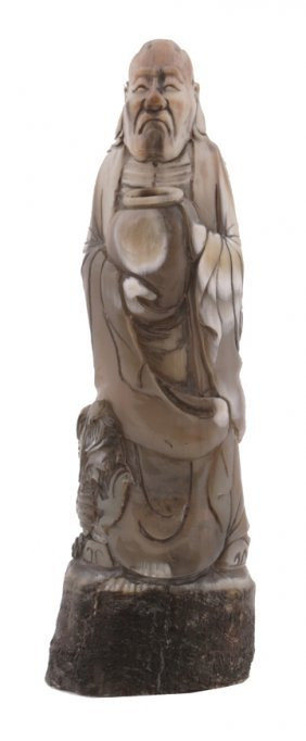 Eighteenth/nineteenth-century Chinese Carved Ox Ho