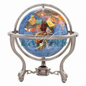 "KALIFANO 13"" COMMANDER GEMSTONE GLOBE"