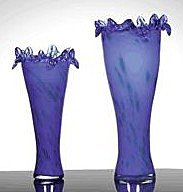 ART GLASS 2 PC VASE SET