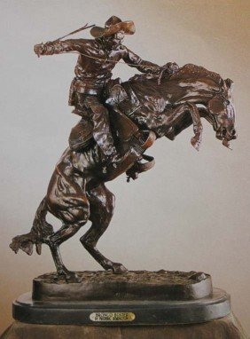 """BRONCO BUSTER"" BRONZE SCULPTURE -  REMINGTON"