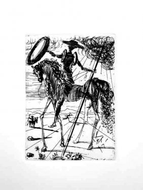 "DALI ""DON QUIXOTE"" ETCHING"