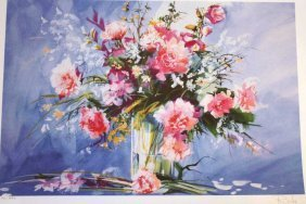 """ROCHE """"FLORAL"""" HAND SIGNED"""