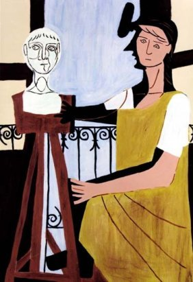 "PICASSO ""WOMAN WITH SCULPTURE"""