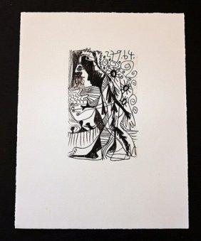 """PICASSO 1970 """"LE GOUT DE BONHEUR"""" LITHOGRAPH"""