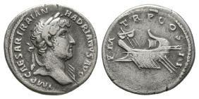 Roman Imperial Coins - Hadrian - Galley Denarius