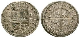 World Coins - Spain - Philip V - 1720 - 2 Reales