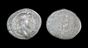 Roman Hadrian - Felicitas - Denarius