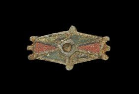 Romano-British Bronze Hexagonal Shield Brooch