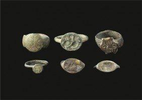Romano-British Bronze Finger Ring Group