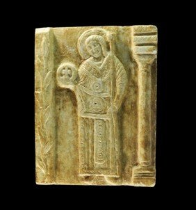 Byzantine Style Carved Stone Plaque