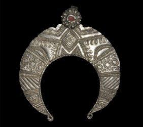 Post Medieval Bedouin White Metal Pendant