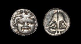 Greek Thrace - Apollonia Pontika - Gorgon Drachm