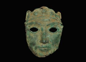 Near Eastern Bronze Miniature Actor's Mask