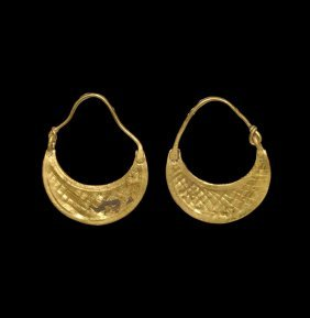 Greek Thracian Gold Earrings