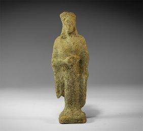 Greek Terracotta Female Figure