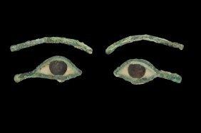Egyptian Mummy Mask Eye Inlay Pair