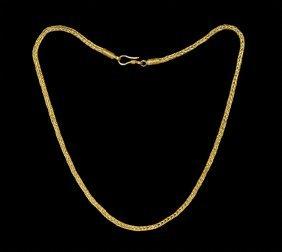 Byzantine Gold Reliquary Pendant Chain