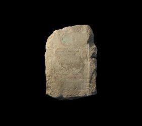 Byzantine Stele With Inscription