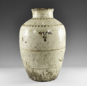 Chinese Glazed Monumental Jar