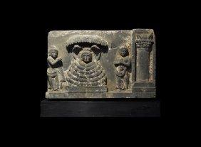 Gandharan Buddha And Mucilinda Frieze