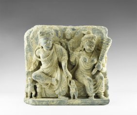 Gandharan Panel With Two Figures