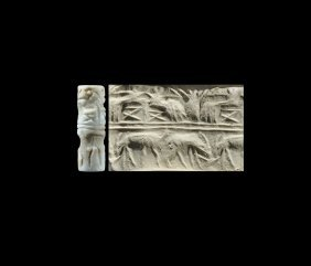 Western Asiatic Akkadian Cylinder Seal With Animals