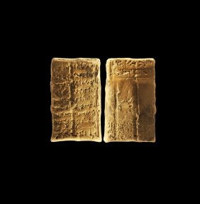 Western Asiatic Old Babylonian Letter In A Sealed