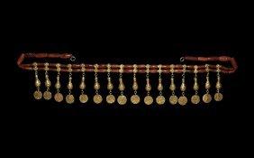 Islamic Gold Shah Of Persia Coin-pendant Fringe