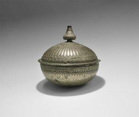Islamic Safavid Bowl With Lid