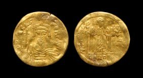 Ancient Byzantine Coins - Phocas - Gold Angel Solidus