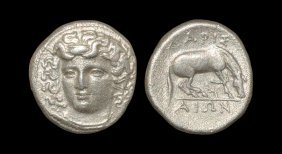 Ancient Greek Coins - Thessaly - Larissa - Horse