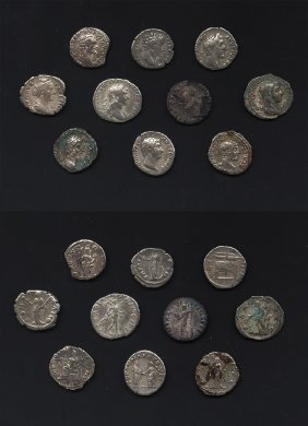 Ancient Roman Imperial Coins - Mixed Denarii Group [10]